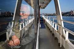 Golden Horn Ferry - Istanbul, Turkey (Maciej Dakowicz) Tags: reflection ferry turkey boat istanbul passenger travelphotography