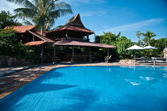 Travel2011116 (SukkhaP) Tags: cambodia kep artificial resort swimmingpool veranda