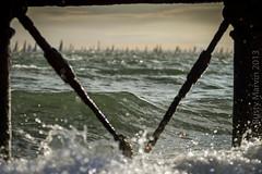 Round the Island - X had the spot (Rusty Marvin - JohnWoracker.com) Tags: sea sky english clouds boats pier surf waves sailing cross wind wave x highlights isleofwight solent sail channel members fortalbert choppy 2013 roundtheislandrace islandsailingclub jpmorganassetmanagement