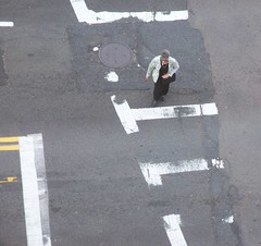 (mestes76) Tags: family people boston mom massachusetts crosswalk massachusettsavenue viewfromabove crossingthestreet 051712