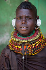 Turkana woman (Zalacain) Tags: africa portrait woman black face kenya tribe traditionaldress turkana laketurkana loyangalani