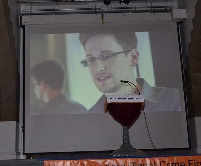 Edward Snowden video at Emergency Forum at Cooper Union, NYC
