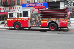 FDNY Engine 33 (Triborough) Tags: nyc newyorkcity eastvillage ny newyork manhattan engine firetruck fireengine fdny greenwichvillage seagrave newyorkcounty newyorkcityfiredepartment engine33