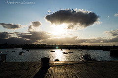 (Donaghadee, Northern Ireland) (A. McCoubrey Photography) Tags: sunset water clouds nikon harbour rays dslr crepuscular d3100