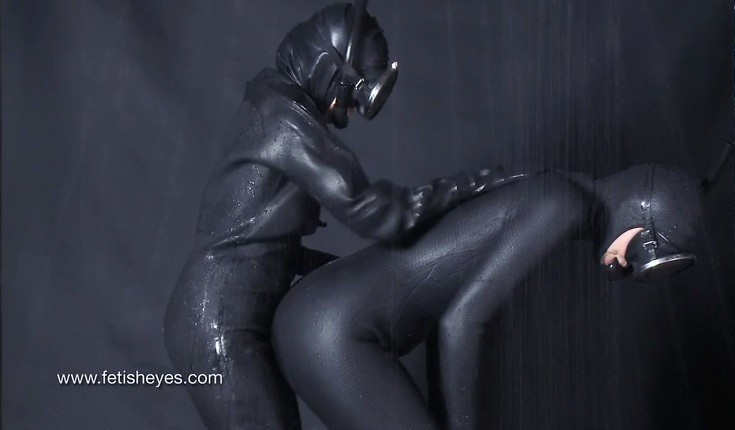 Girl in Wetsuit and Rubber Raniwear Fetish Soft Porn 7a