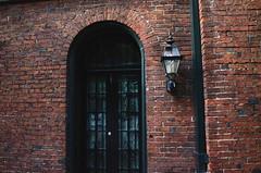 Delila's Boudoir (jonverseau) Tags: city brick green french doors gothic charm baltimore mount nightlight hunter vernon mountvernon frenchdoors