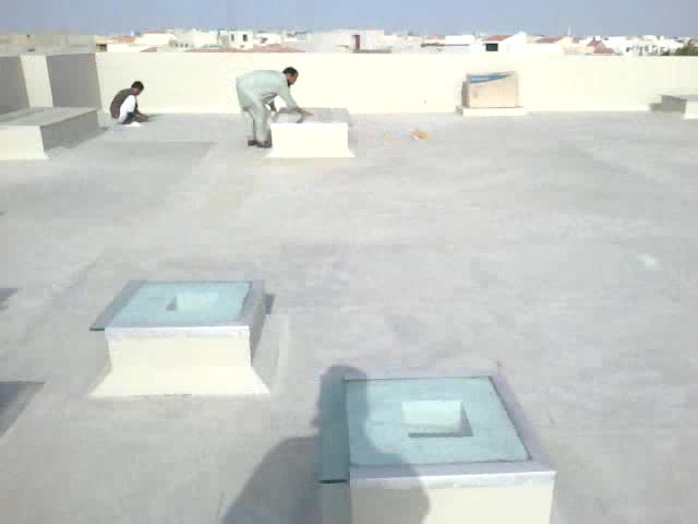 cleaning surface for roof heat proofing  at DHA karachi