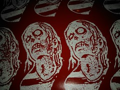 latest block print (andres musta) Tags: andres musta zombie sticker stickerart zas art squad zombieartsquad stickers adhesive andresmusta slaps