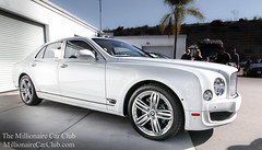 White Bentley Mulsanne (Winning Agent) Tags: auto california sexy car automobile automotive tires exotic brakes british southerncalifornia expensive luxury exclusive v8 bentley carshow symbolic w12 millionaire luxurycar affluent whitecar worldcars muslanne