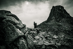 Chamonix - Brvent II (dibaer) Tags: mountain france nature rock montagne noiretblanc chamonix rocher d600 brvent nikond600 lebrvent