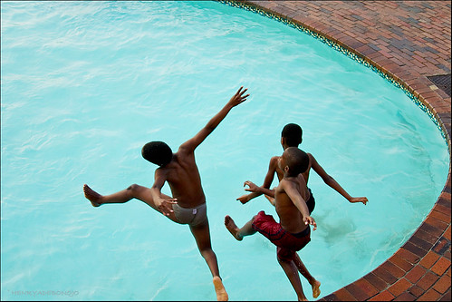 Kid Dive Into Pool Kids Diving Into a Swimming Pool After School Margate South Africa