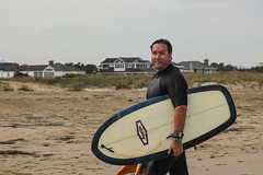 Blue Steel (haddartist) Tags: ocean houses sky house silly beach me face look grass goofy clouds self matt coast sand afternoon cloudy board dune watch coastal oceanside surfboard leash virginiabeach northend fins yourstruly seagrass wetsuit selfie oceanfront beachhouses 68thstreet paipo austinsurfboards