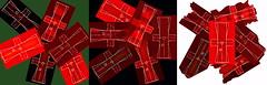 """Shuffle and Deal Out Cards - Kaftan Cut Sheet, Pattern ~ """"Karten mischen und austeilen"""" Kaftan Schnittmusterbogen Triptychon """"Auch die Tagtrume des Kriegers sind blutig"""" - Unanswered Request for a Painting - Kimono (hedbavny) Tags: vienna wien red black green rot austria sketch sterreich diary digitalart puzzle note workshop kimono grn tagebuch schwarz tapestry blut handwerk workingroom werkstatt tapisserie entwurf skizze sewingpattern notiz friedemann arbeitsraum skizzenbuch maigrn schnittmuster blutrot schaubild berlegungen musterbogen teppichweber hedbavny ingridhedbavny sketzchbook"""