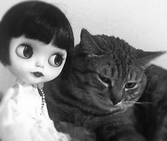 "Blythe-a-Day September#1:Archive: '30s Star LaVern La Rue&""The Gigantic Cat"""