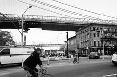 Brooklyn Heights #3, NYC, November 2013 (Thomas Claveirole) Tags: nyc newyorkcity bw newyork film brooklyn 35mm brooklynheights brooklynbridge 135 tmax400 24x36 leicam6ttl tmax400400iso summicron1235mmasph manhattanbrigdge