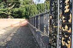 Railings @Tredegar. (ChRisGilEs Photography) Tags: november autumn england macro up stone closeup wales gold bars close le cobbles railings tredegarhouse30112013