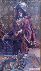 Romualdo Prati Autoritratto in costume olio su tela 88x51,5cm di
