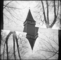 131226004 (Marcin Kubiak) Tags: autumn bw mountains 6x6 church analog temple holga kodak tmax iso400 doubleexposure surrealism grain dream surreal poland epson analogue mx tatry 120mm multiexposure v500 biakatatrzaska redscale