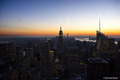Top of the Rock - New York (Michelle Bruton) Tags: nightphotography sunset newyork night topoftherock topoftherockobservationdeck