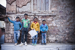 The Gang of Four (Shubh M Singh) Tags: kite children four market bazar dagshai