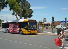 Bus to Clockwise (railfan3) Tags: road girls bus public buses mobile crossing phone looking south transport australian adelaide sa 300 southaustralia interchange texting clockwise adelaidemetro adelaidebuses metroadelaide