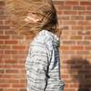 Letting Go. (evilibby) Tags: shadow wall garden mas brickwall blonde libby 365 hairflip hairtoss 365days 3656 365days6 musichoody