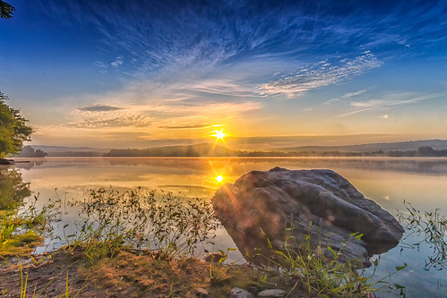 """Sunrise over Pine Lake • <a style=""""font-size:0.8em;"""" href=""""http://www.flickr.com/photos/76866446@N07/13297206365/"""" target=""""_blank"""">View on Flickr</a>"""