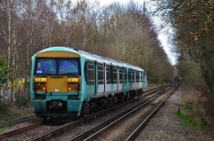 They've arrived.....   Sort of. (stavioni) Tags: west electric train south railway trains southern multiple emu unit swt livery frimley unbranded class456 456005 456009