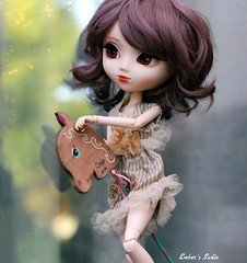 Magic ride (pure_embers) Tags: uk horse brown cute girl doll dolls ride sweet magic sadie hobby wig pullip luts pure embers rosy obitsu rosybrown stica cookiedolls pureembers