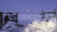 IMG_0885s (savillent) Tags: moon lunar penumbral earth shadow landscape sky snow ice arctic north climate photography canon point shoot camera tuktoyaktuk northwest territories canada astrology february 2017