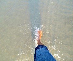 Bare footed on the beach. (ferdoush007) Tags: bare foot footed seabeach bangladeah bayofbengal
