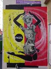 FKDL (mars 2017) (Archi & Philou) Tags: collage fkdl streetart paris11 femme lady