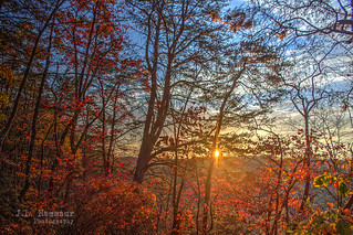 Sunrise from Martha's Pretty Point - Virgin Falls State Natural Area