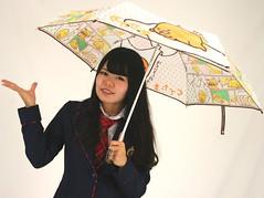 April Showers Bring (emotiroi auranaut) Tags: girl uniform school fashion rain umbrella cute adorable pretty beauty beautiful attractive gudetama charming lovely japan japanese asia asian egg sanrio character