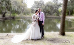 Dreamy Wedding (margotd2) Tags: dreamy wedding ethereal romantic outdoors pond trees bride groom bridal water