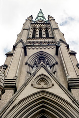 St. James Cathedral Spire (Bill Smith1) Tags: agfavista400 believeinfilm billsmithsphotography heyfsc nikkormatel toronto nikkoro35f2lens