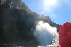 Blow hole - Pennicott Bruny Island cruise (John Englart (Takver)) Tags: bruny island brunyisland tasmania australia travel pennicott cruise blowhole spray water
