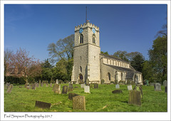 St Hybalds, Scawby, North Lincolnshire (Paul Simpson Photography) Tags: sthybalds sthybald scawby northlincolnshire paulsimpsonphotography imagesof imageof photosof photoof sonya77 bluesky church religion churchtower graves headstones april2017 sunshine sunnyday trees death photosofengland britain