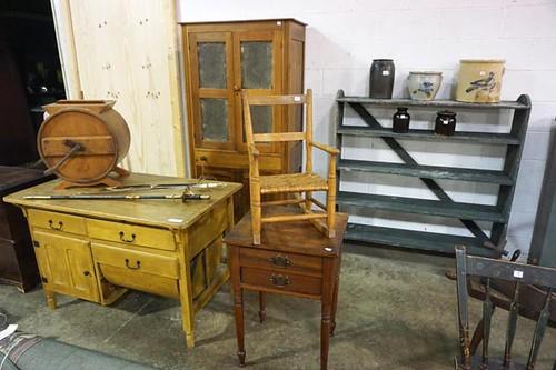 Punch Tin Kitchen Pie Safe ($145.60); Baker's Cabinet ($179.20)