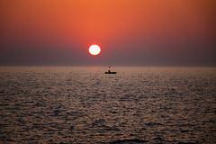 Sunset On Lake Michigan (DJ Wolfman) Tags: sunset sunsets red orange sun lake lakemichigan michigan michiganfavorites sony rx10 purple water westmichigan