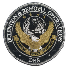 ICE/DHS Detention & Removal Operations Patch (Nate_892) Tags: ice immigration customs enforcement federal agent officer patch police dhs homeland security detention removal operations badge
