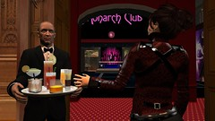 That better be a blowjob (alexandriabrangwin) Tags: alexandriabrangwin secondlife 3d cgi computer graphics virtual world photography themonarchclub mansion dark evening rich house butler serving drinks dancfloor bar secretive conspiracy cocktails raspberry cobra biker goth jacket blowjob tia maria baileys irish cream layered leather
