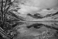 Dove Lake in Infrared (zenseas) Tags: dovelake cradlemountain ir digitalinfrared reflections bw blackandwhite monochrome infrared tasmania australia south southern southernhemisphere lake