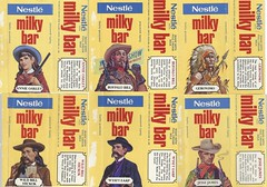 1970s Nestle Milky Bar Wild West Chocolate Wrappers - New Zealand (NZCollector) Tags: nestle milky bar new zealand packaging kiwiana collectables collectibles promotional promo collectable chocolate wrappers cadbury
