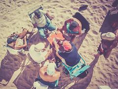 La partie de cartes (totofffff) Tags: partie carte plage soleil croisette cannes film festival em1 zuiko 14 150