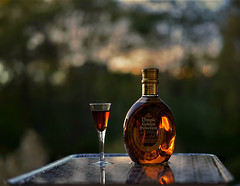 Outdoor still life 3 (Tong Shan 8972) Tags: whiskey glasses bottle drinking nightfall background