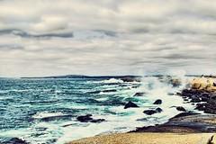 Cloudy sky, wavy sea (wpc302) Tags: d3300 dslr peggyscove novascotia nikon ns nature wave surf surfing canada ca cloud breaking trail hiking sea shore shoreline rock