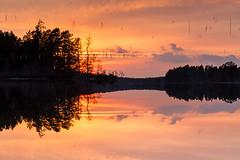 _MG_3333-HDR_LR_M (cls-70) Tags: oskarshamn smälten sjö lake spegling reflection spegelvänd mirrored solnedgång sunset moln clouds