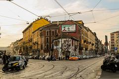 (Aurelia Li) Tags: milan milano chainsmokers naviglio crossroads travel cables warm graffiti tram streetart italy