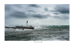 Port-La-Nouvelle (Sabine Deixonne) Tags: phare sea storm wave vague tempête méditerranée lighthouse portlanouvelle pier jetée